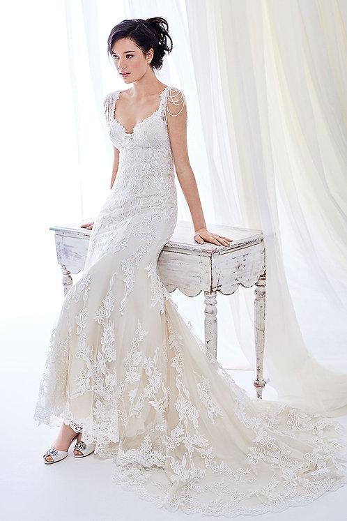 Gorgeous Ella Rosa Wedding Dress BE399 size 12