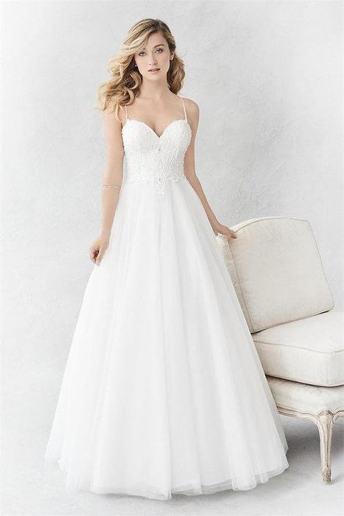 Stunning Ella Rosa Ivory Wedding gown BE359 Size UK 12