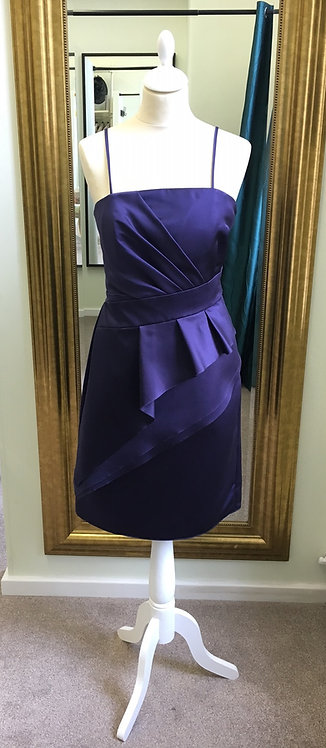 Satin dress in Purple by Watters & Watters. UK 10 US 8.