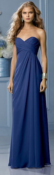 Chiffon dress in Royal Blue by Watters & Watters. UK 10 US 8