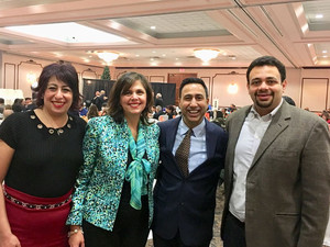 With MPP Deepak Anand Attending Coptic Gala