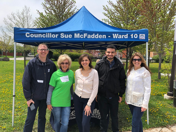 With Councillor Sue McFadden at Her Community Day