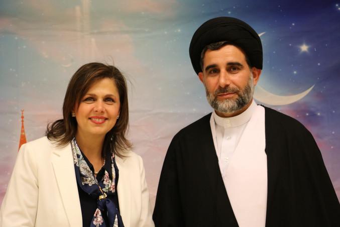 With Sheikh Ali Aljazaeri at His School's Graduation Party