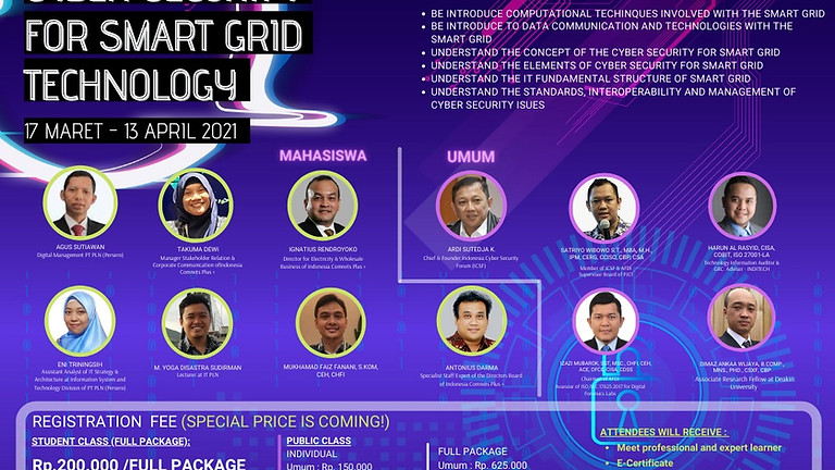 [NEW PACKAGE BUNDLING!!!] SMART GRID ACADEMY Batch 2