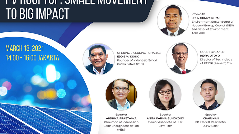 "[ENERGY TALK SERIES 8] ""PV Rooftop: Small Movement To Big Impact"""