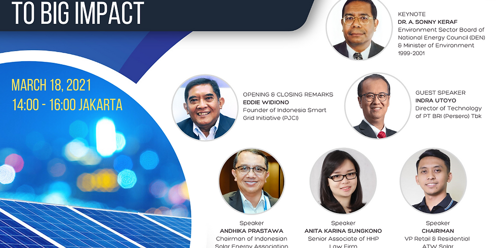 """[ENERGY TALK SERIES 8] """"PV Rooftop: Small Movement To Big Impact"""""""