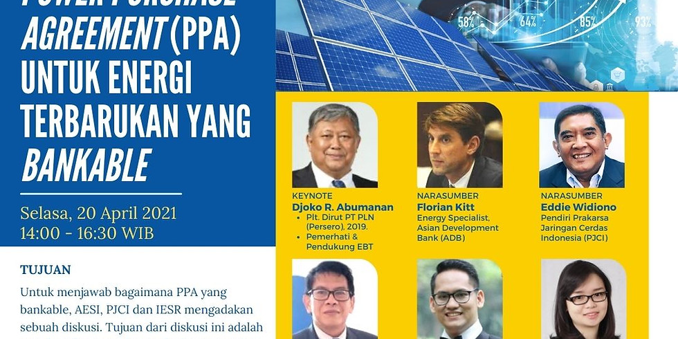 Power Purchase Agreement (PPA) Untuk Energi Terbarukan Yang Bankable