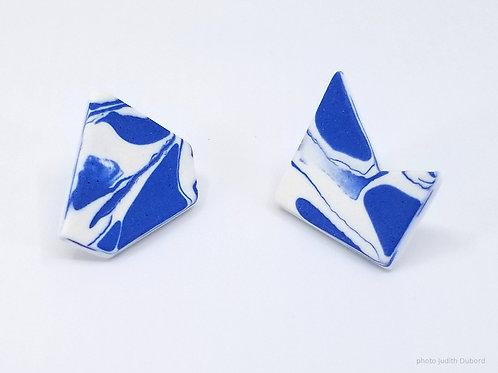Boucles d'oreille Collection Nériage Bleue