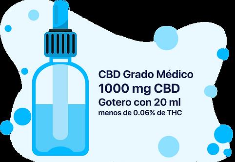 CBD Grado médico 1000 mg