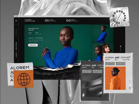 Moodboard for a fashion website