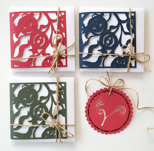 Greeting Cards with Envelope «Pomegranate»