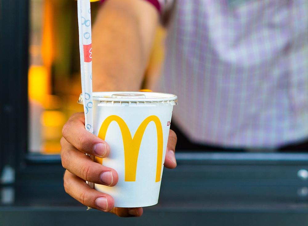 Drive thru order at McDonalds