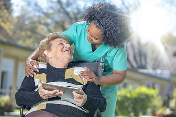 senior in home care giver compansionship