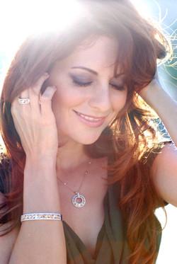 Parade Jewelry ad, makeup by Mariah