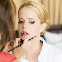 glamorous wedding makeup by Mariah