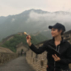 Mariah Nicole Makeup Artist filming on the Great Wall of China