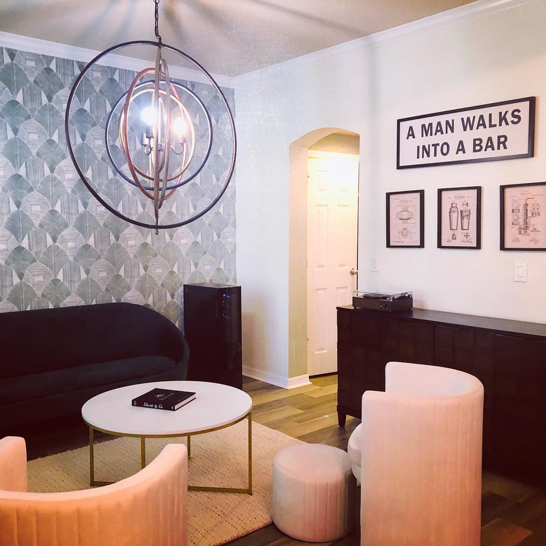 Formal Dining Room Turned Cocktail Lounge