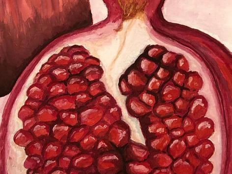 Pomegranate 7x5, Watercolor