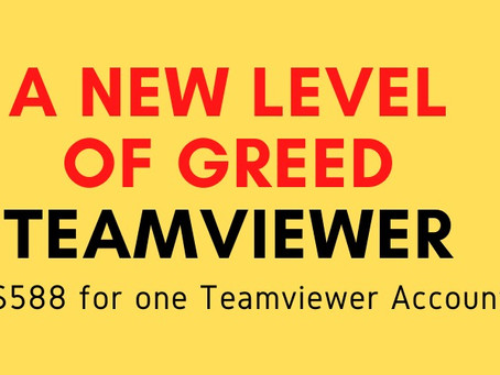 Teamviewer Update - 12/7/2020 - A New Level of Greed