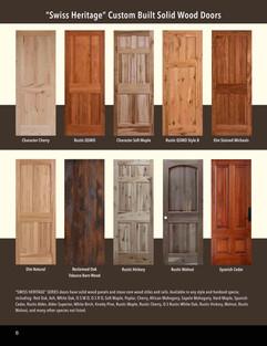 Swiss Heritage Solid Wood Doors