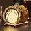 Thumbnail: 6pc Classical Golden Cocktail Metal Coaster Continental Vintage Zinc Alloy