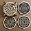 Thumbnail: Wooden Coasters with Stand [Set of 4]