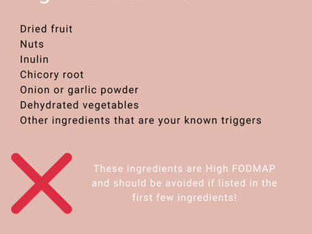 HOW TO: Label Reading for Low FODMAP