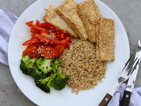 FODMAP Friendly Sesame Crusted Tofu