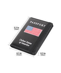 Passport Holder Cover Wallet Case USA Fl