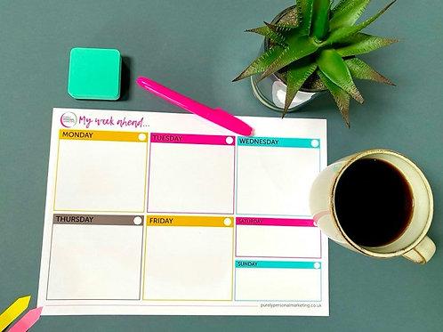 Dry-wipe Weekly Planner