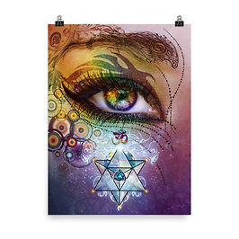 """Poster """"Rainbow Eye"""" by Lilyas"""