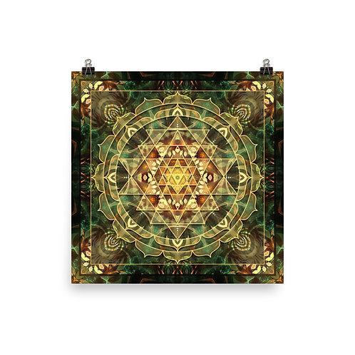"""Poster """"Sri Yantra Healing Mandala"""" by Lilyas"""