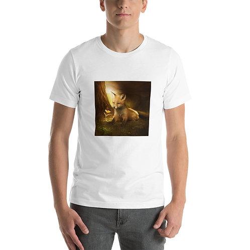 "T-Shirt ""Little Fox and the flowers"" by ElenaDudina"