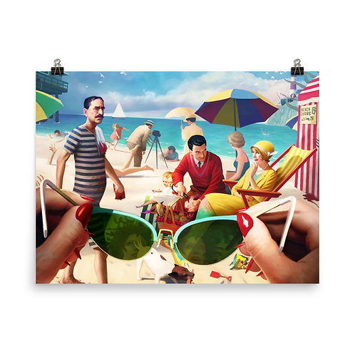 """Poster """"Under the Boardwalk"""" by JeffLeeJohnson"""