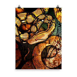 """Poster """"Reticulated Python"""" by Culpeo-Fox"""
