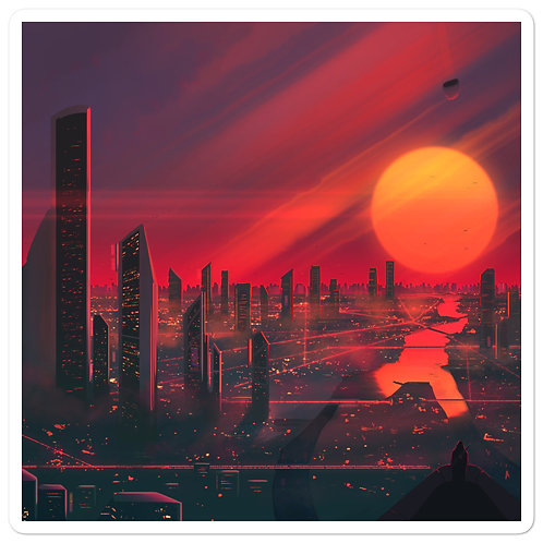 "Stickers ""3019 City of Bright Lights"" by JoeyJazz"