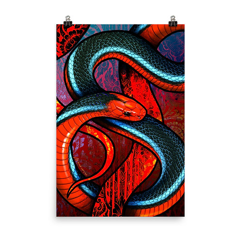 """Poster """"Blue Coral Snake"""" by Culpeo-Fox"""