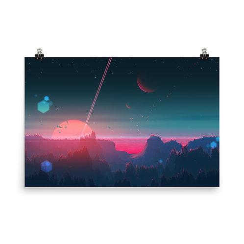 "Poster ""Under the Strange Horizon"" by JoeyJazz"