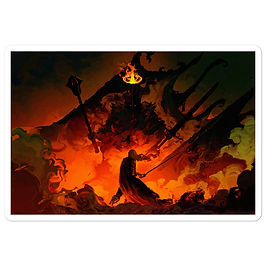 "Stickers ""Eowyn Vs The Witch King"" by Anatofinnstark"