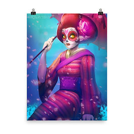 "Poster ""Geisha Catrina"" by DasGnomo"
