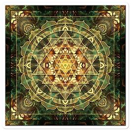 """Stickers """"Sri Yantra Healing Mandala"""" by Lilyas"""