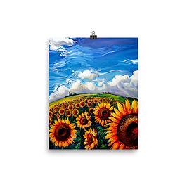 """Poster """"Sunflower World"""" by LauraZee"""