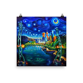 """Poster """"Lions Gate Night Out"""" by LauraZee"""