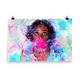 "Poster ""Bubblicious"" by phatpuppyart-studios"