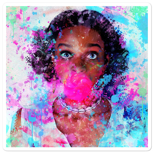 "Stickers ""Bubblicious"" by phatpuppyart-studios"