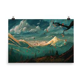 "Poster ""At Autumns Door"" by JoeyJazz"
