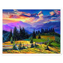 """Stickers """"Sunset"""" by Gudzart"""