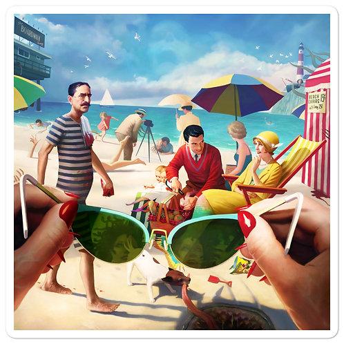 """Stickers """"Under the Boardwalk"""" by JeffLeeJohnson"""