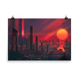 "Poster ""3019 City of Bright Lights"" by JoeyJazz"