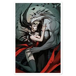 "Stickers ""Wolf Vampire"" by el-grimlock"